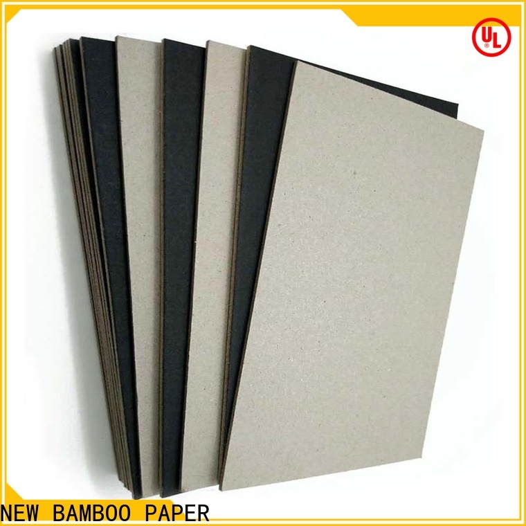 NEW BAMBOO PAPER safety black laminated chipboard supplier for hang tag