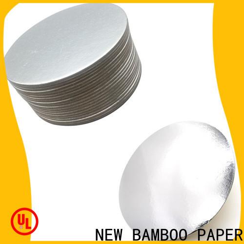 NEW BAMBOO PAPER top silver cake board free design for cake board