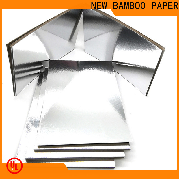 NEW BAMBOO PAPER foil colored chipboard manufacturers for stationery
