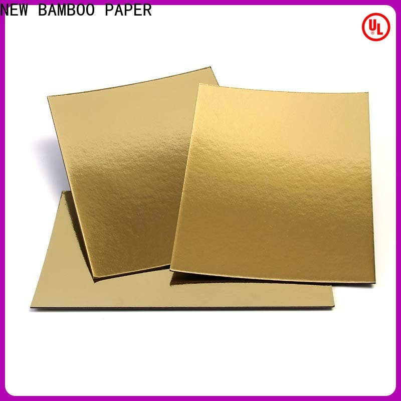 NEW BAMBOO PAPER custom Cake Board factory supply for gift boxes