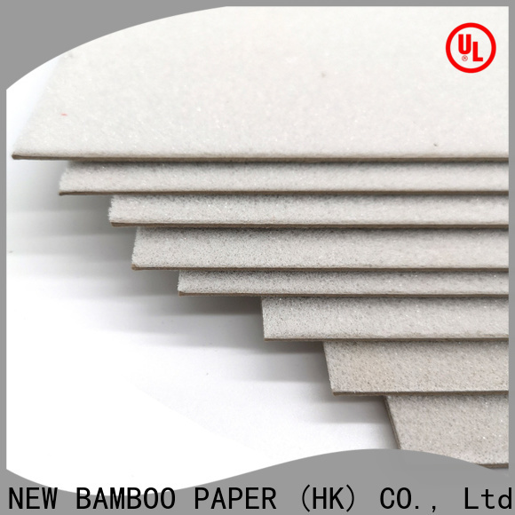 NEW BAMBOO PAPER laminated 2 inch foam board at discount for desk calendars
