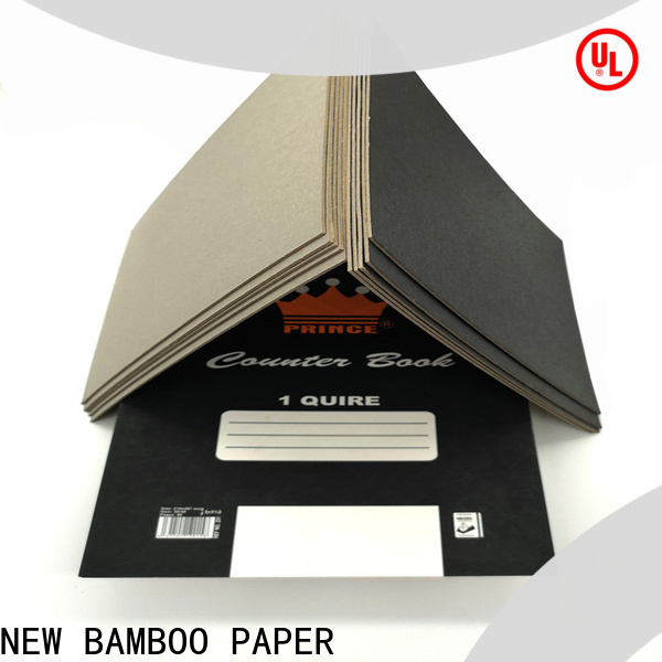 NEW BAMBOO PAPER one black laminated chipboard for shopping bag