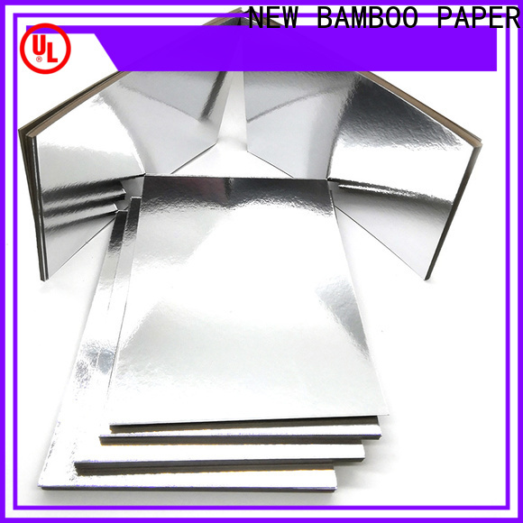 NEW BAMBOO PAPER newly silver foil board factory price for packaging