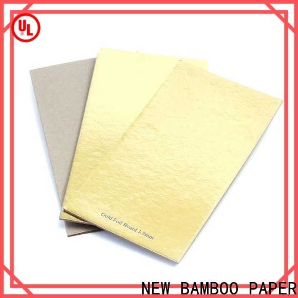 NEW BAMBOO PAPER gold metallic silver poster board factory price for paper bags