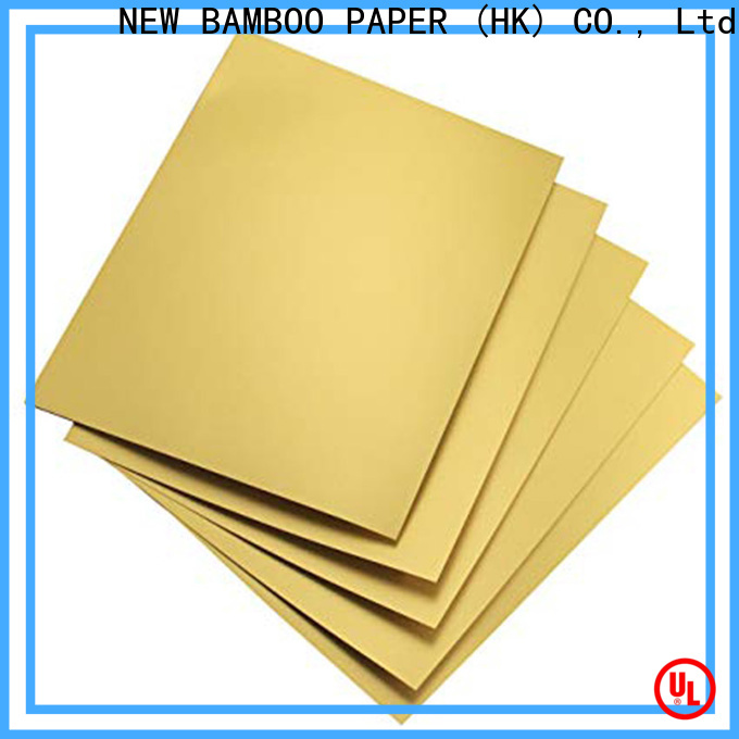 NEW BAMBOO PAPER hard metallic foil paper supply