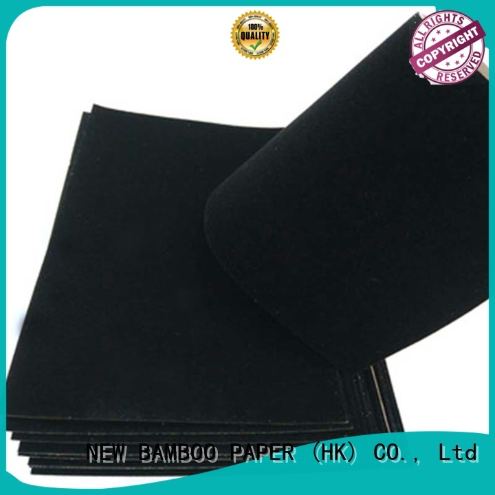 NEW BAMBOO PAPER excellent black flocking paper factory
