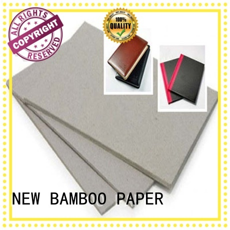 NEW BAMBOO PAPER degradable grey board thickness factory price for folder covers