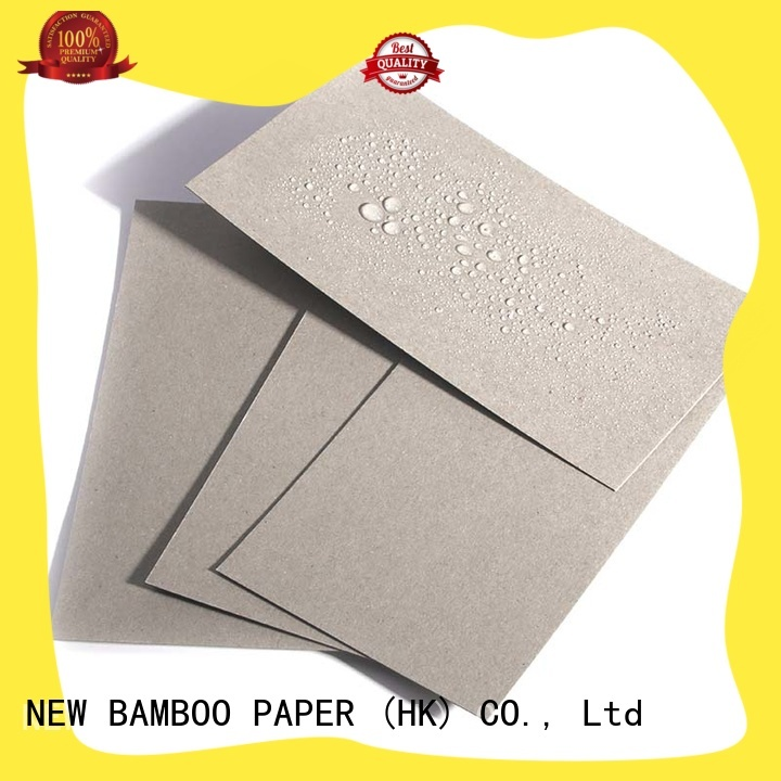 grey poly coated cardboard widely-use for trash cans NEW BAMBOO PAPER