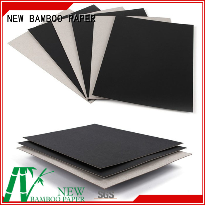 NEW BAMBOO PAPER inexpensive black board paper producer for box materials