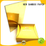NEW BAMBOO PAPER best gold cardboard for dessert packaging
