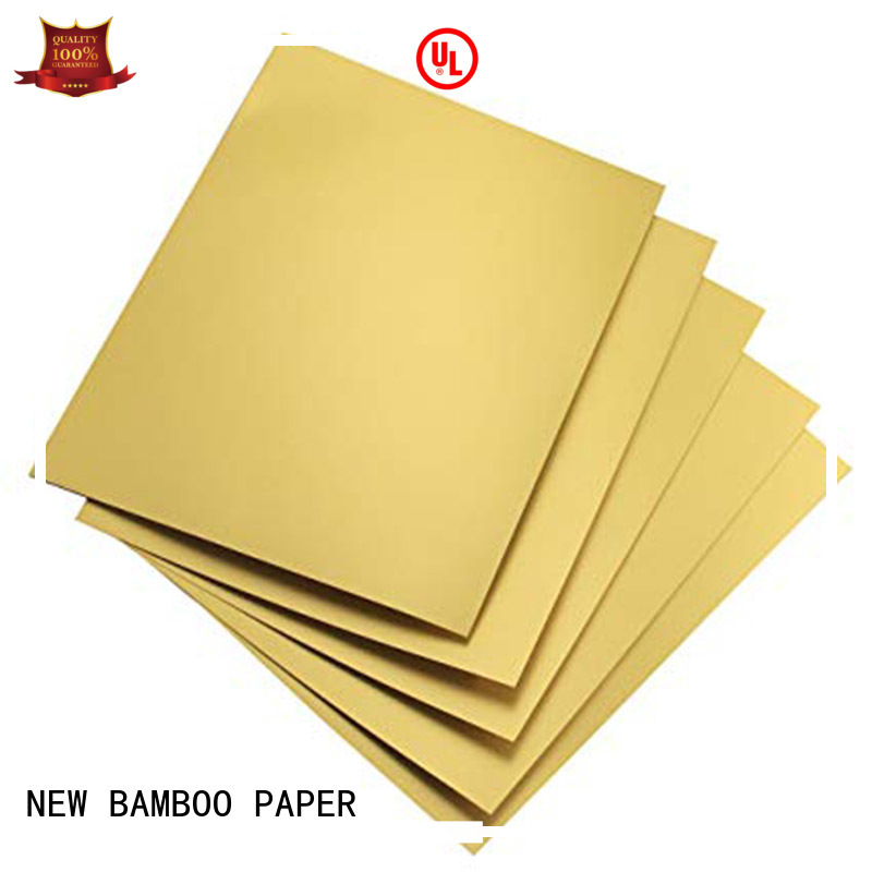 NEW BAMBOO PAPER laminated metallic foil paper free design for packaging