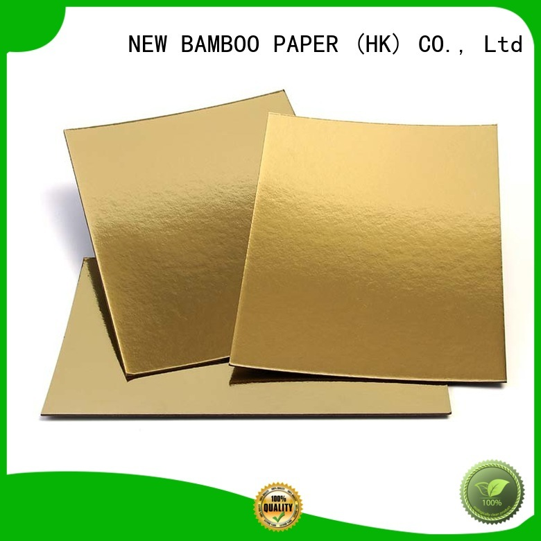 NEW BAMBOO PAPER cardboard cake board rounds bulk production