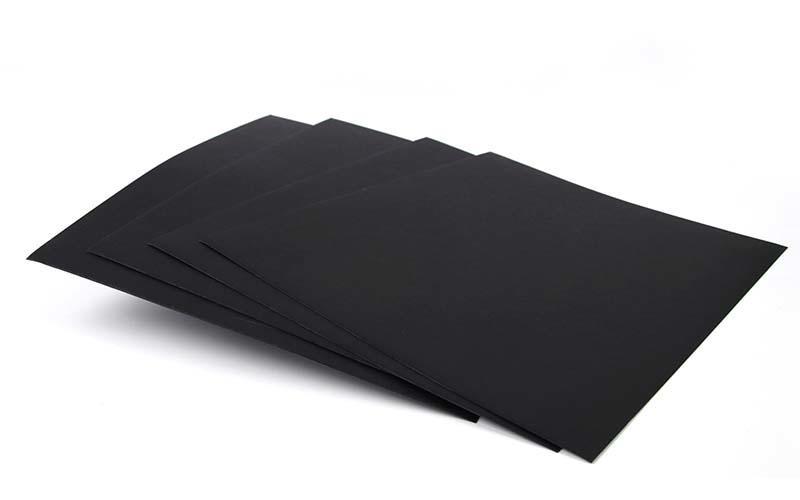 Single Side 110gsm-450gsm Black Paper Reels / Black Paper Board Sheets Standard Size-1