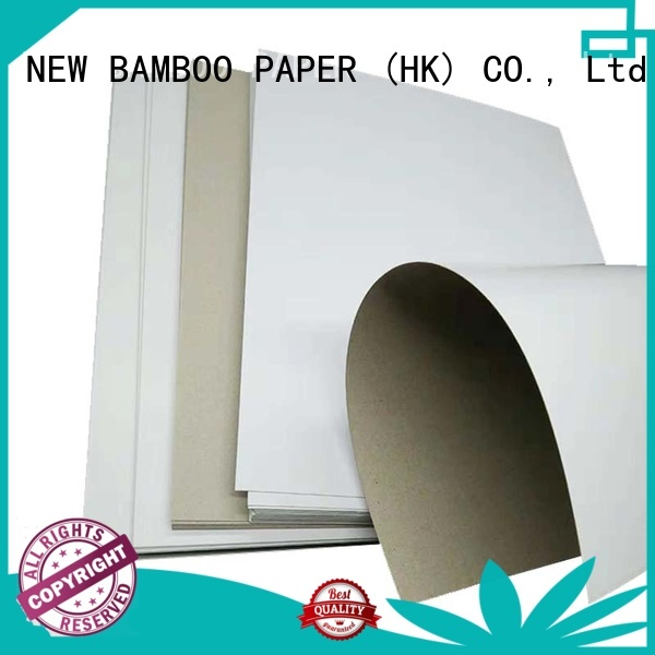 NEW BAMBOO PAPER grey duplex board free design for cereal boxes