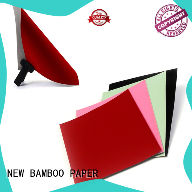 NEW BAMBOO PAPER nice velvet flocked paper vendor for stationery