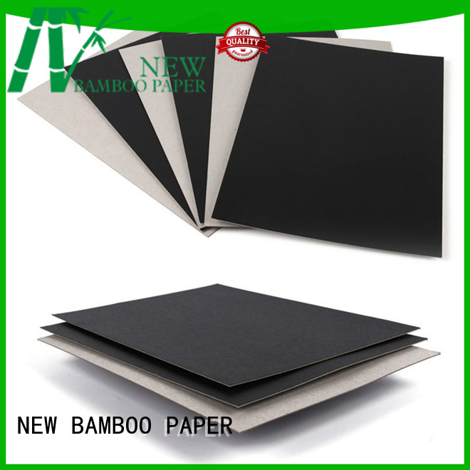 NEW BAMBOO PAPER side Painted black board producer for box materials