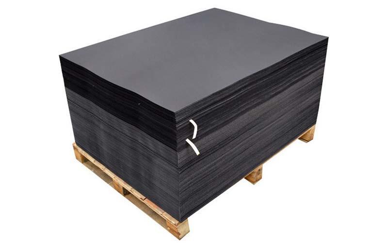 Single Side 110gsm-450gsm Black Paper Reels / Black Paper Board Sheets Standard Size-2