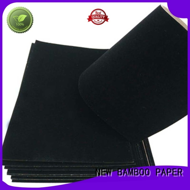 NEW BAMBOO PAPER excellent flocked velvet paper producer for paper bags
