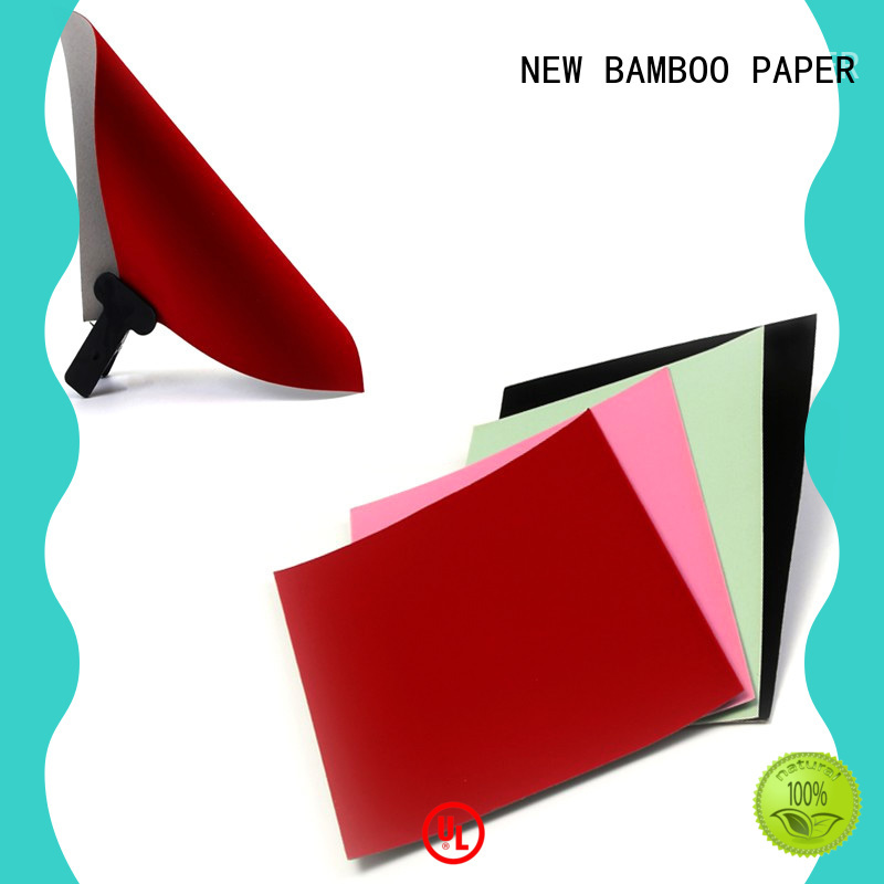 NEW BAMBOO PAPER cardboard flocking paper manufacturer for gift boxes