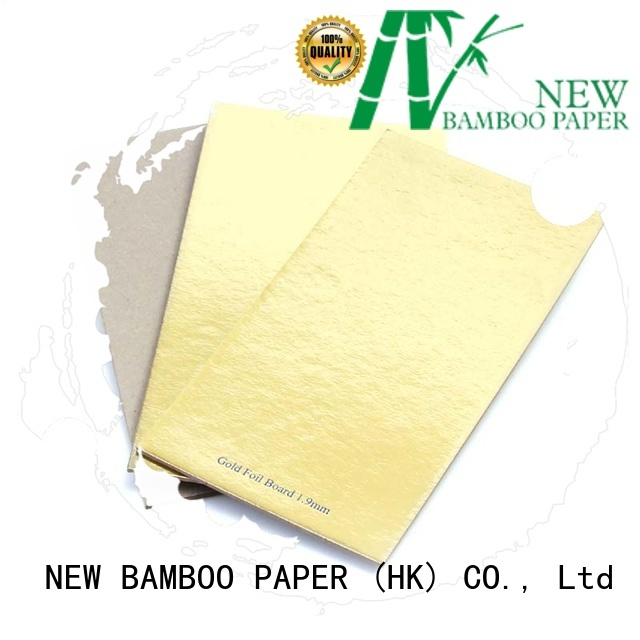 foil board printing back for stationery NEW BAMBOO PAPER