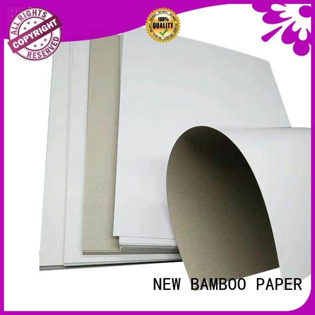 NEW BAMBOO PAPER duplex board bulk production for soap boxes