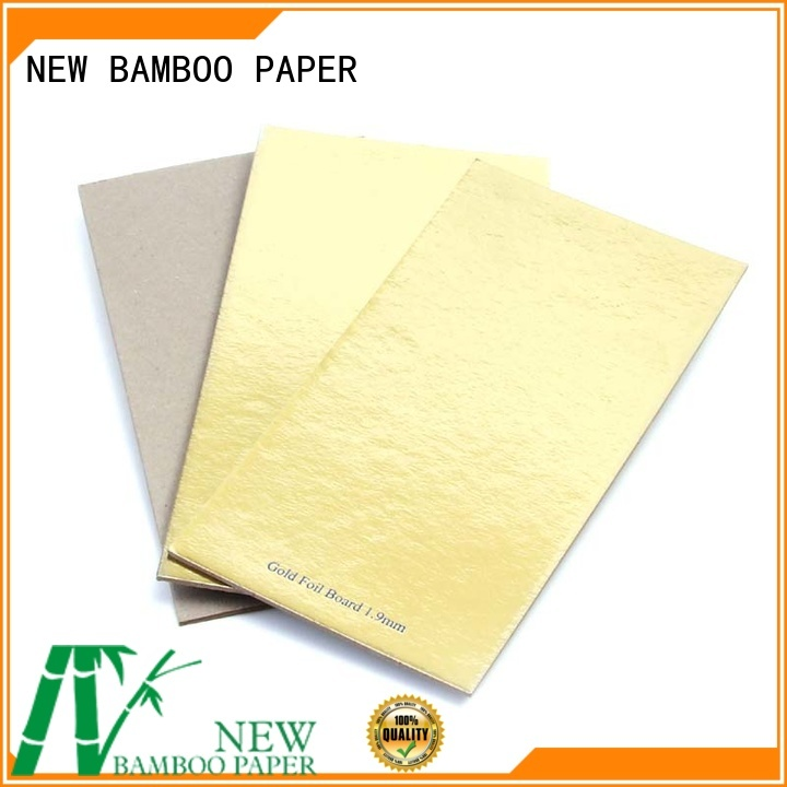 NEW BAMBOO PAPER grey cake boards gold bulk production for paper bags