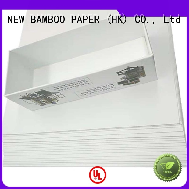 NEW BAMBOO PAPER roll coated duplex board with grey back order now for shoe boxes