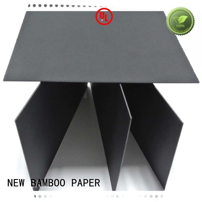 NEW BAMBOO PAPER cardboard black paperboard for wholesale for jewelry boxes