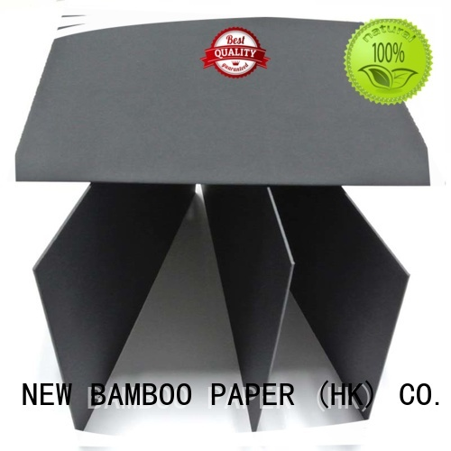 NEW BAMBOO PAPER electronics black paper board factory price for silk printing