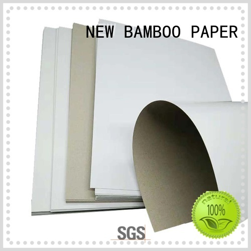 NEW BAMBOO PAPER grey Grey board with white back long-term-use for gift box binding