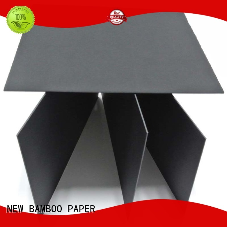 sturdy black board waste for gift boxes NEW BAMBOO PAPER
