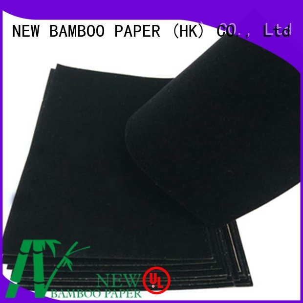 NEW BAMBOO PAPER usage black flocking paper wholesale for decoration