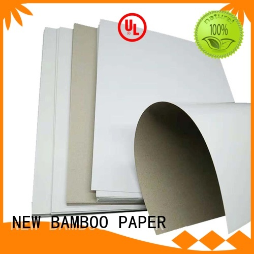 NEW BAMBOO PAPER mixed coated duplex board with grey back bulk production for toothpaste boxes