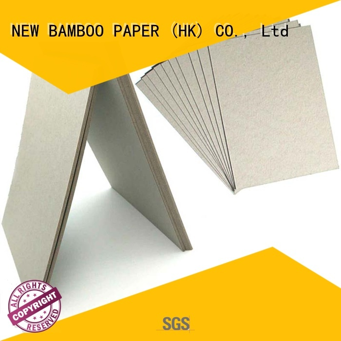 NEW BAMBOO PAPER fine- quality grey paper board factory price for packaging