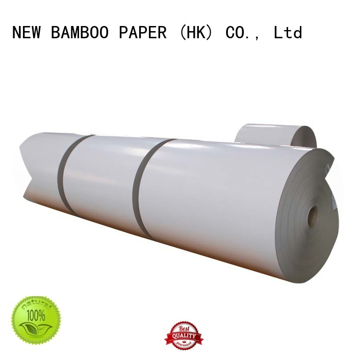 NEW BAMBOO PAPER mixed coated duplex board with grey back from manufacturer for shoe boxes