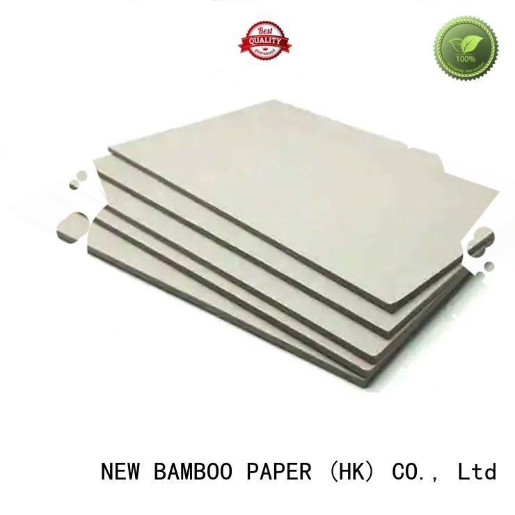 NEW BAMBOO PAPER paperboard grey cardboard sheets for wholesale for folder covers