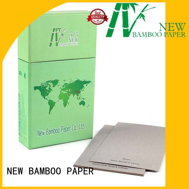 NEW BAMBOO PAPER curl grey chipboard from manufacturer for desk calendars
