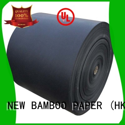 Single Side 110gsm-450gsm Black Paper Reels / Black Paper Board Sheets Standard Size
