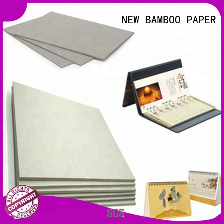 NEW BAMBOO PAPER degradable grey paperboard from manufacturer for T-shirt inserts