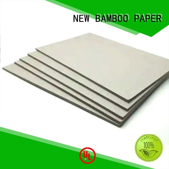 NEW BAMBOO PAPER solid grey board sheets bulk production for boxes