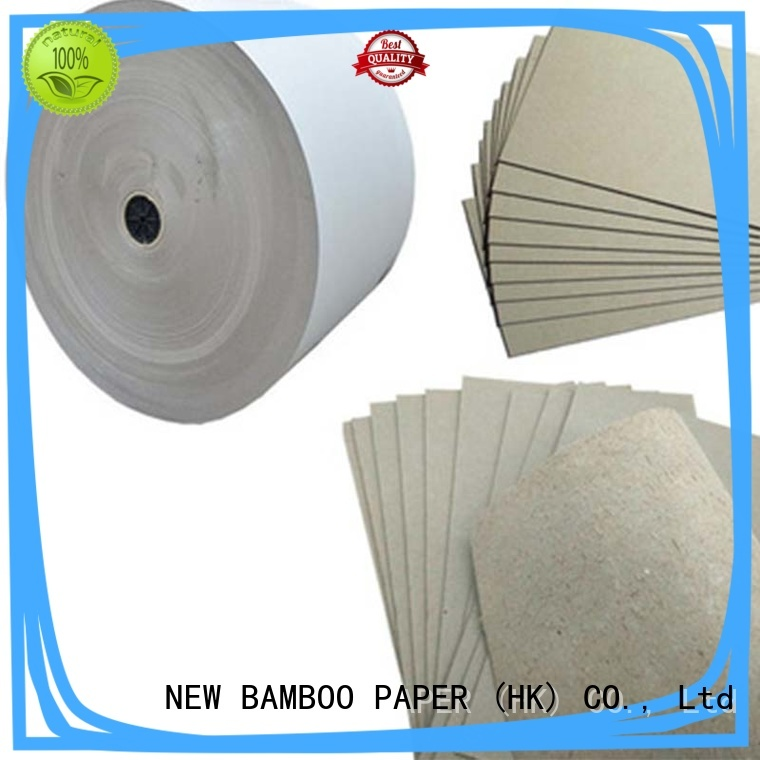 NEW BAMBOO PAPER solid grey board thickness factory price for boxes