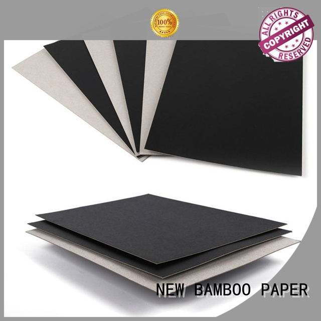 650gsm One Side Black Painted Grey Back Paper Board