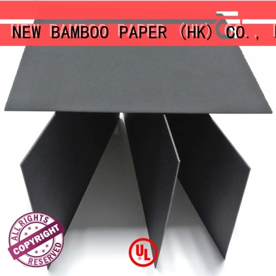 NEW BAMBOO PAPER black black paper board for packaging