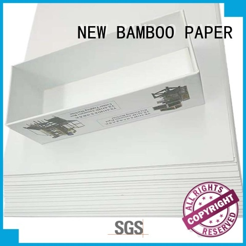 NEW BAMBOO PAPER coated duplex board with grey back free design for box packaging