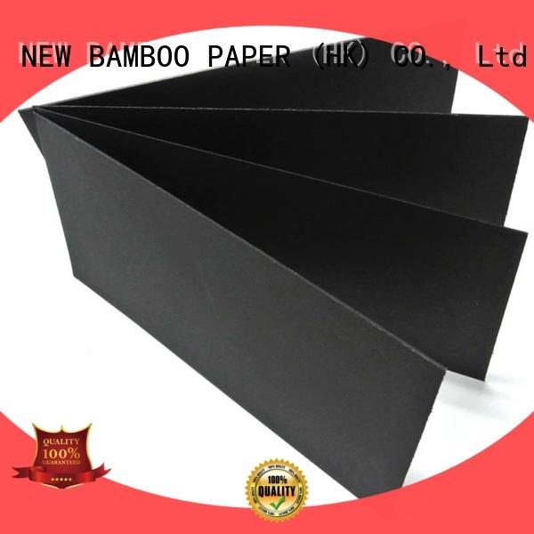 NEW BAMBOO PAPER boardblack black paper board supplier for silk printing