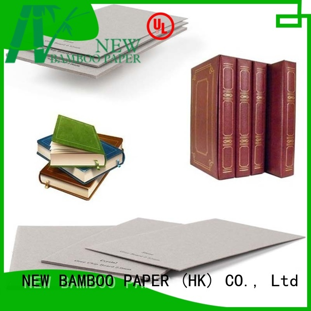 solid laminated grey board degradable factory price for hardcover books