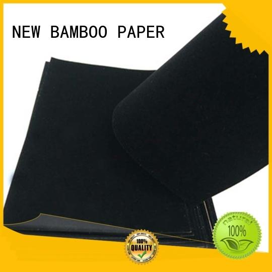 NEW BAMBOO PAPER excellent velvet flocked paper certifications for gift box binding