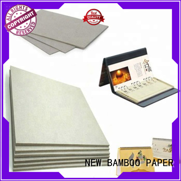 NEW BAMBOO PAPER high-quality gray chipboard for wholesale for desk calendars