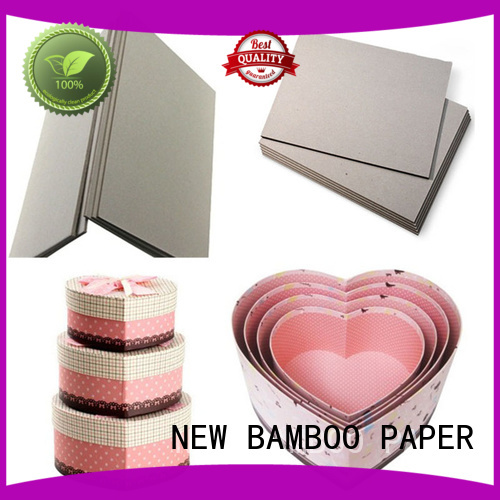 NEW BAMBOO PAPER inexpensive grey board thickness from manufacturer for boxes
