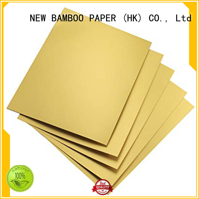 NEW BAMBOO PAPER good-package metallic board paper free design for packaging